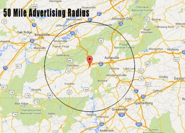 Advertising Radius Map